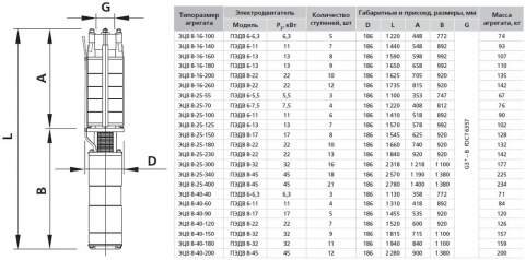 Насос 8-25-125 в разрезе